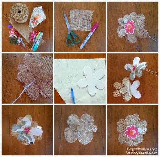 Flores Hechas De Tela De Arpillera Portal De Manualidades