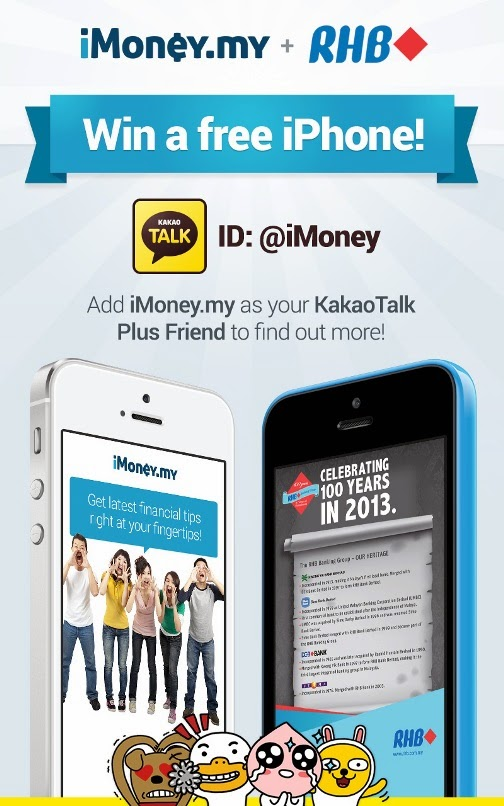 iMoney RHB Bank Contest To Win iPhone 5S 5C And Limited Edition KakaoTalk Plush