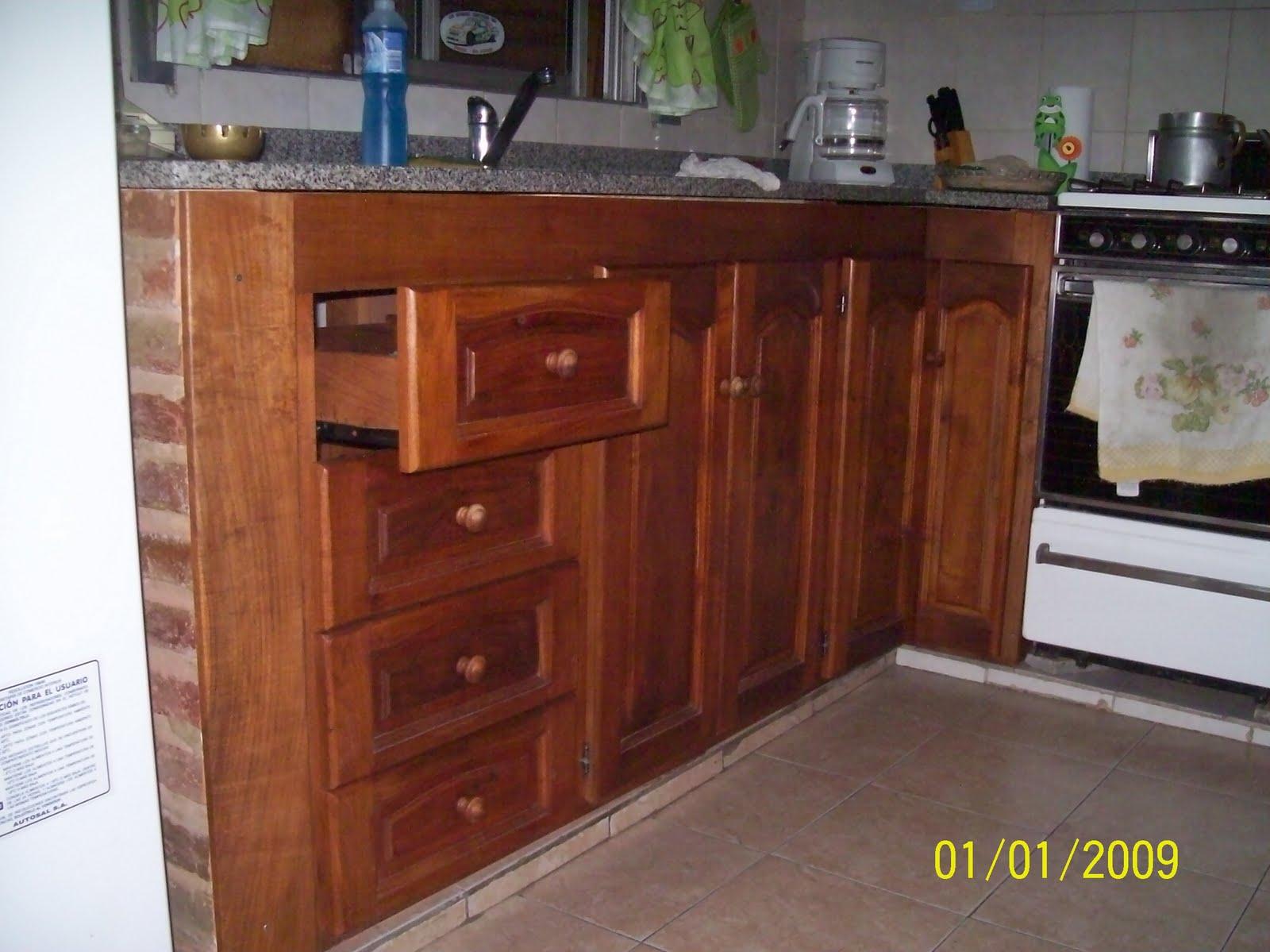 muebles de cocina bajo mesada de algarrobo
