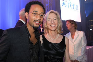 John Legend and UPenn and Amy Gutmann