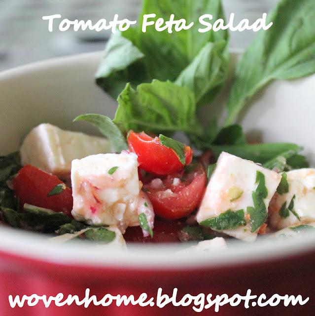 Woven Home: Cherry Tomato and Feta Salad Recipe