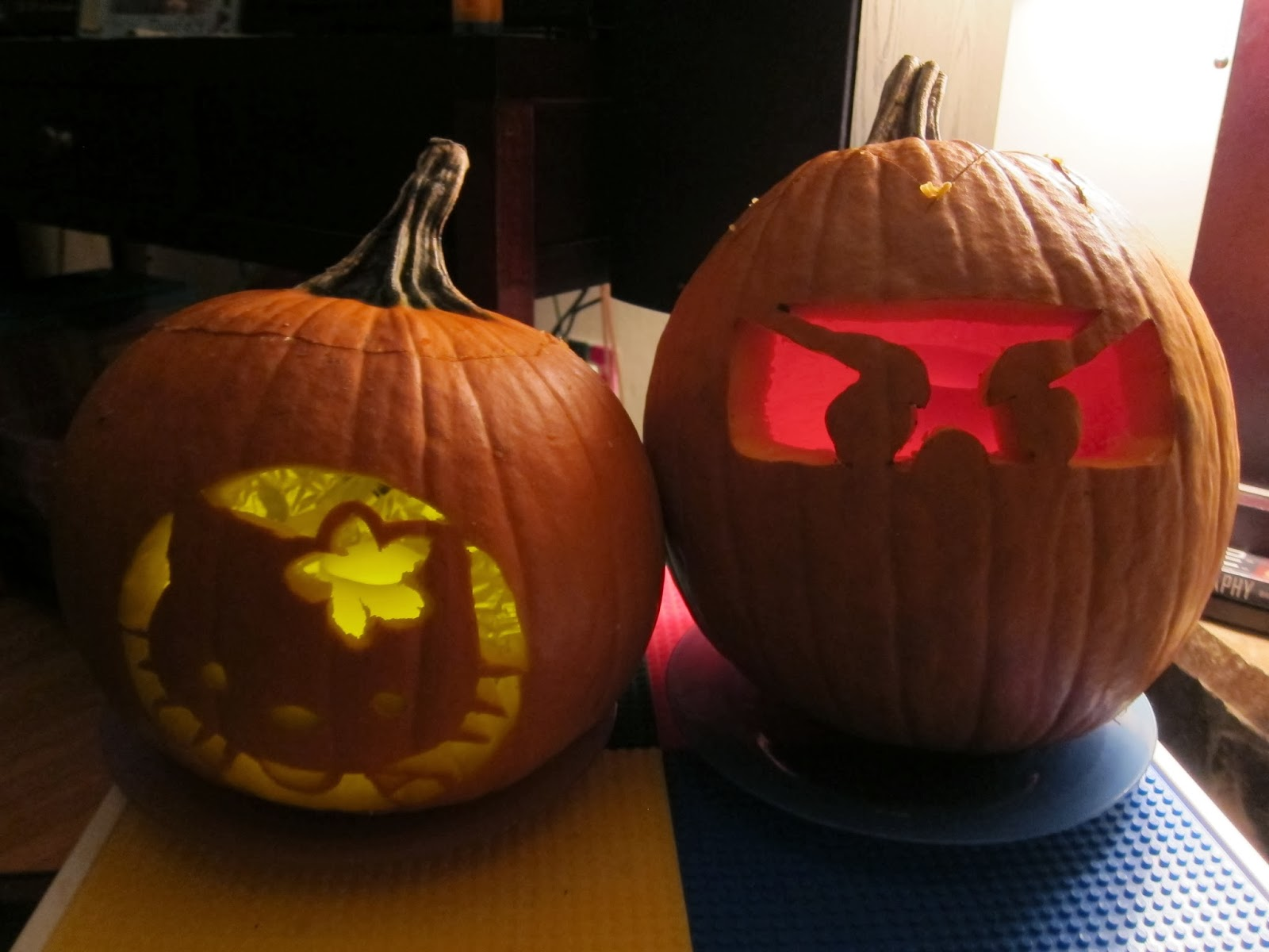 After A Little Google Research We Found Great Site With Hello Kitty Pumpkin Carving Templates For Free My Husband Drew His Own Ninjgao Design