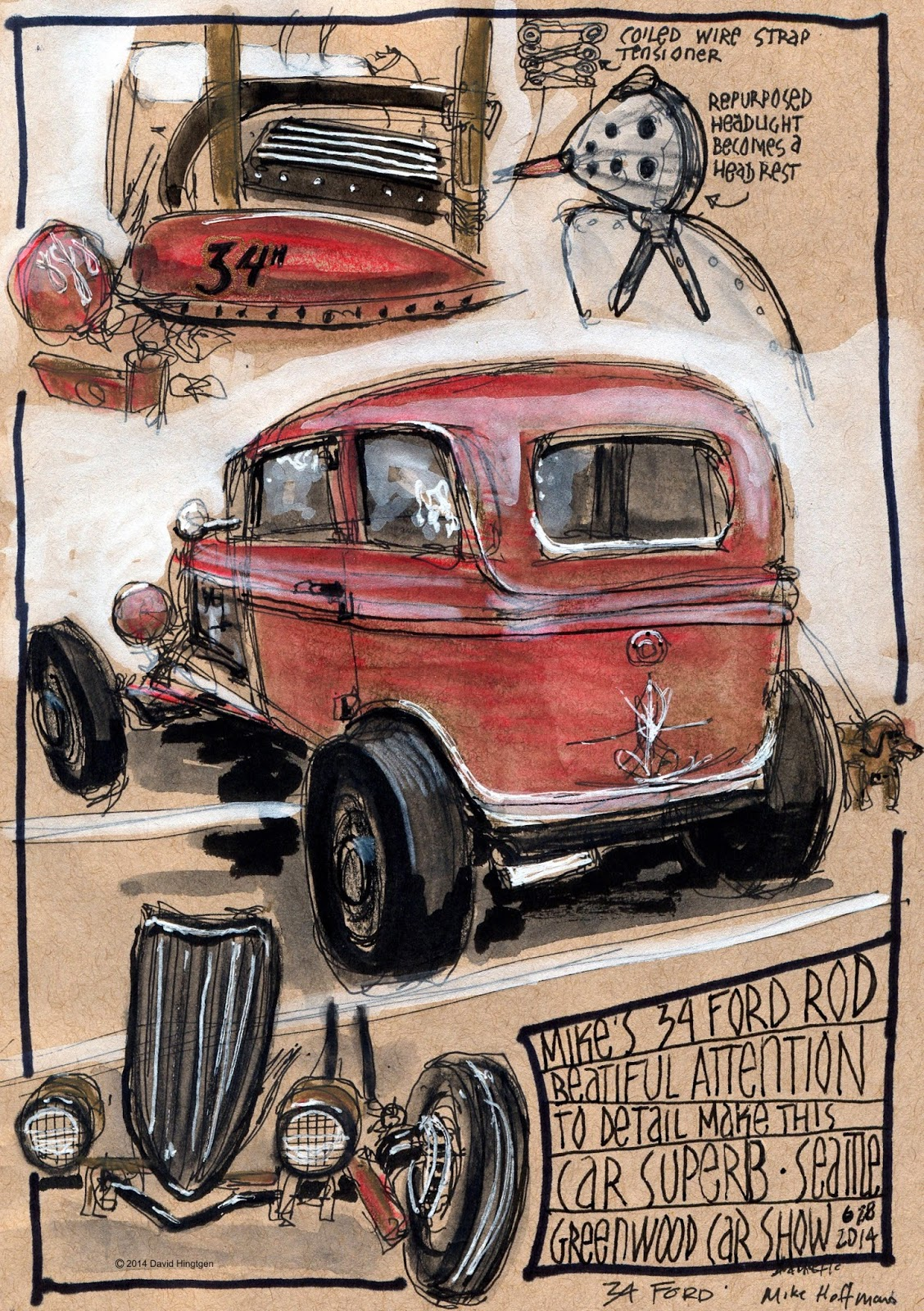 Urban Sketchers Seattle Greenwood Car Show - Classic car show seattle