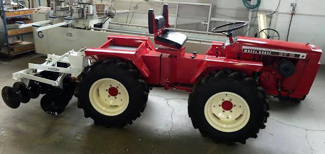 Home Built Articulating Garden Tractor : Just a car guy garden tractor based articulated wheel