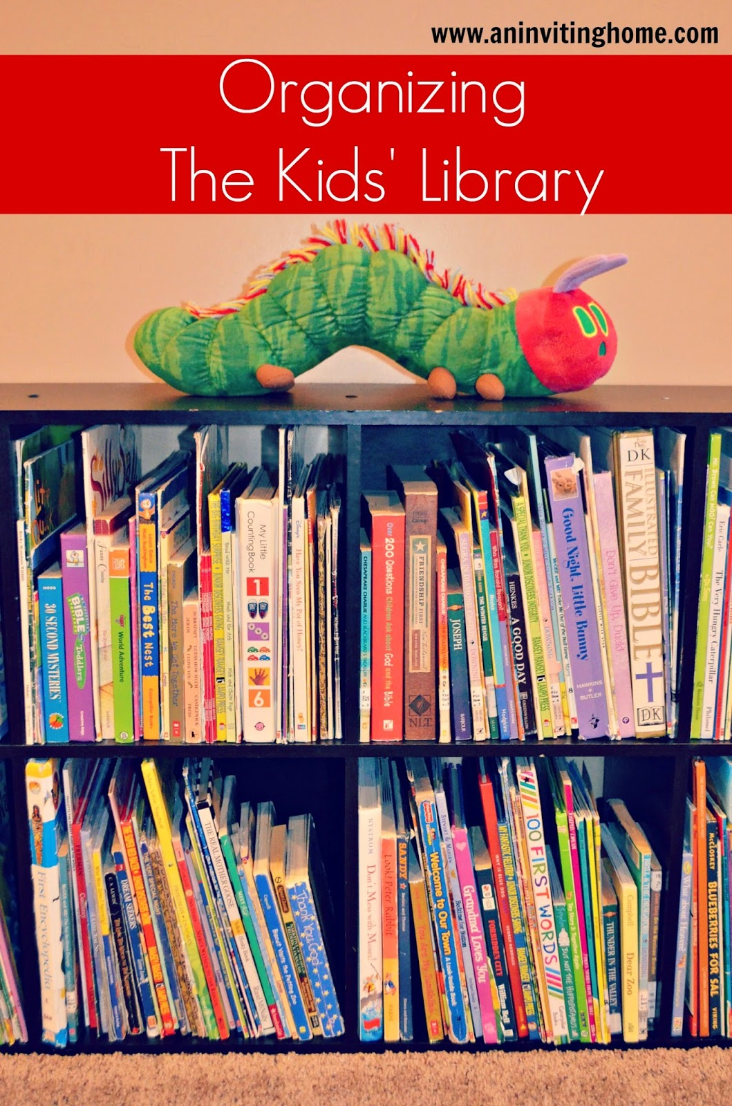 organizing the kids' library