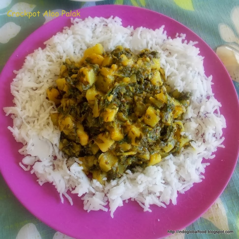 crockpot aloo palak recipe