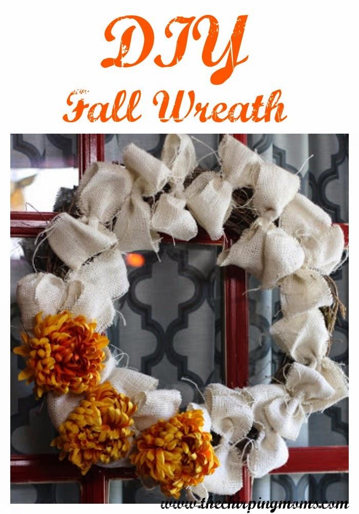 DIY Burlap Fall Wreath II The Chirping Moms