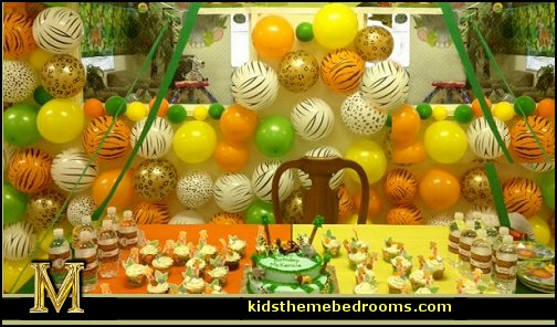 party theme decorations - party supplies - party props - themed party decorating props - party. Jungle Theme Party decorating ideas ... & Decorating theme bedrooms - Maries Manor: party theme decorations ...