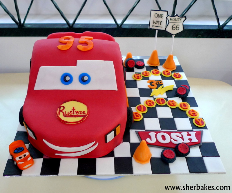 Sherbakes CARS movie themed cake