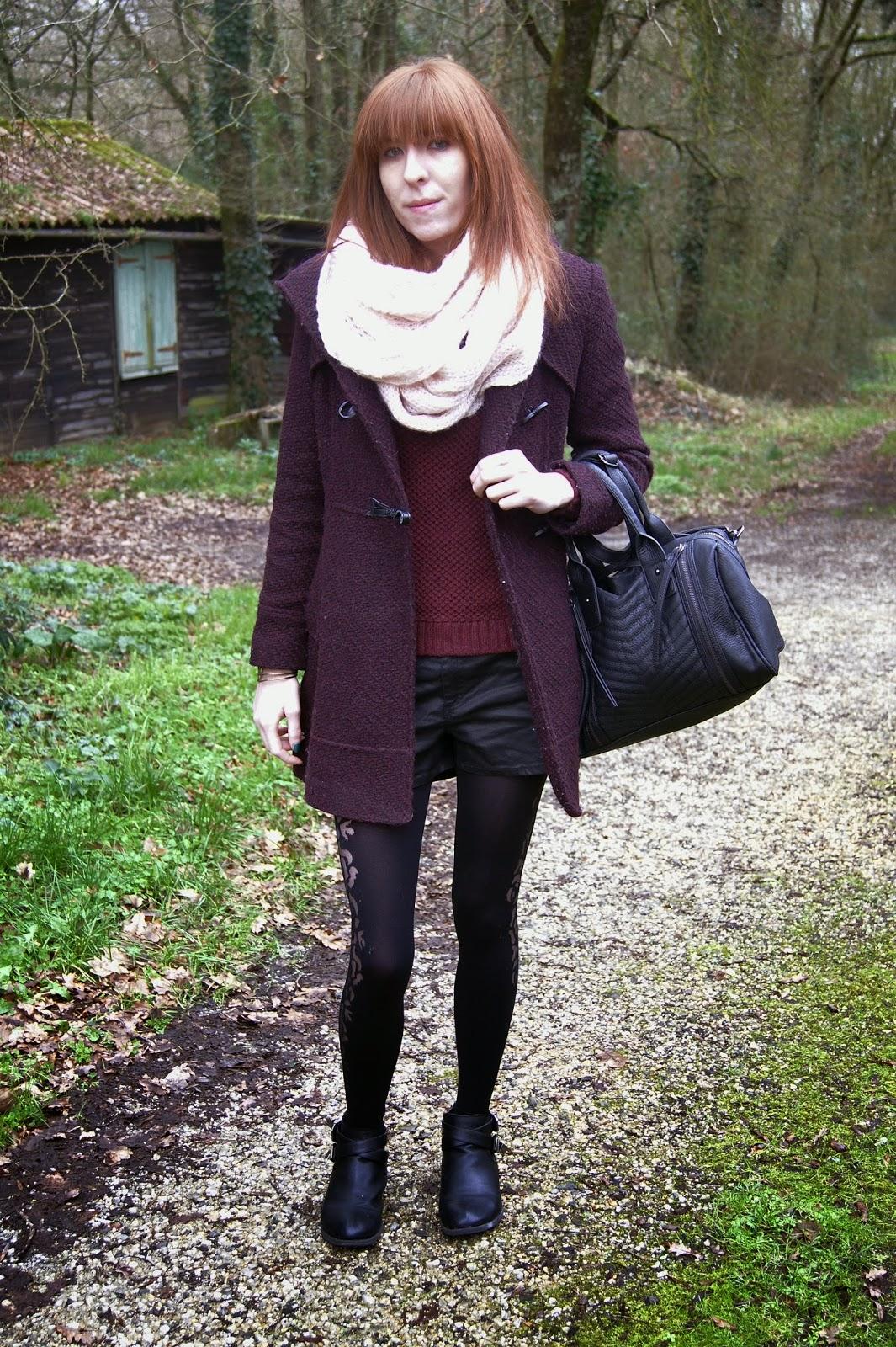 hiver look bordeaux