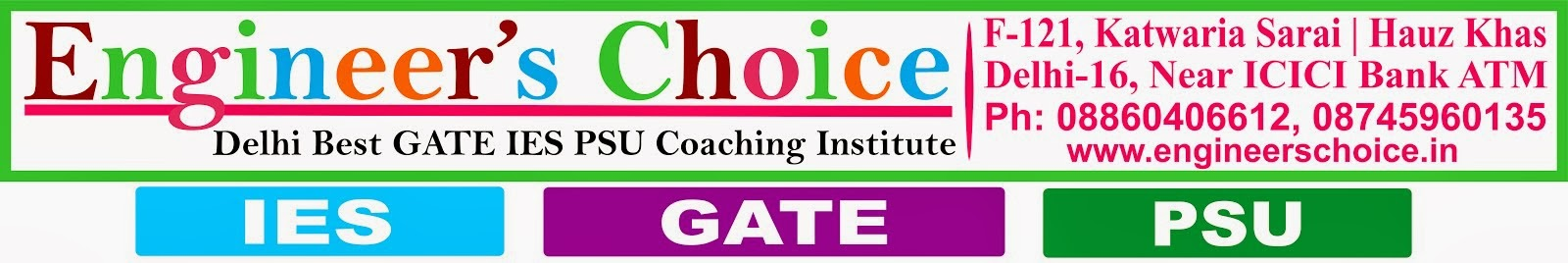 GATE Coaching GATE Coaching Delhi GATE Coaching institute in Noida Kolkata Lucknow 2013 2014 2015