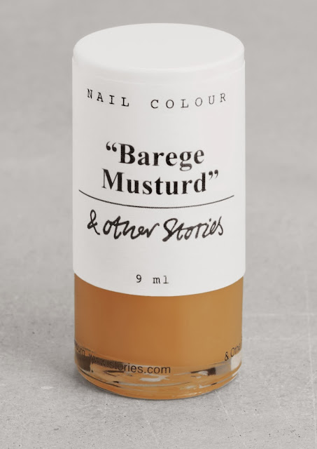 mustard nail varnish