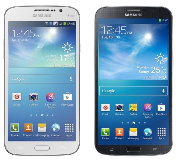 gambar Samsung Galaxy mega 5.8 Duos dan Galaxy Mega 6.3