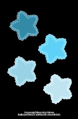 estrellas azules para baby shower