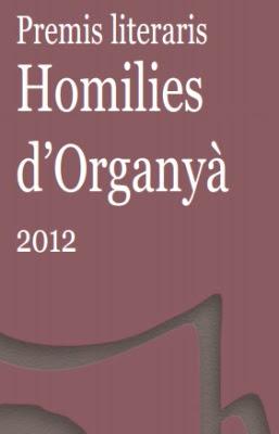 Premis Literaris Homilies d'Organyà 2012