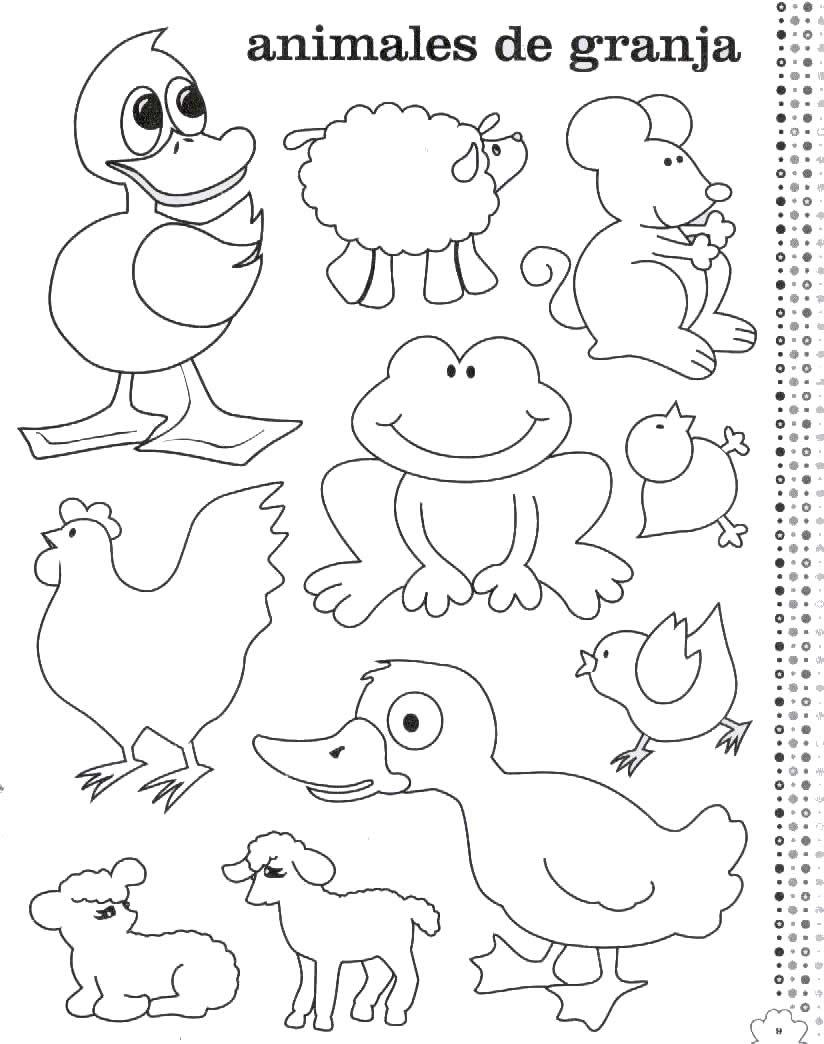 Fantástico Colorear Animales Imprimibles Friso - Dibujos Para ...