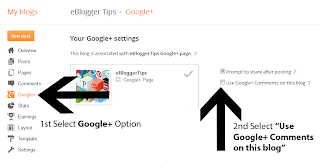 How to Add Google+ Comments to Blogger by eBlogger Tips.com