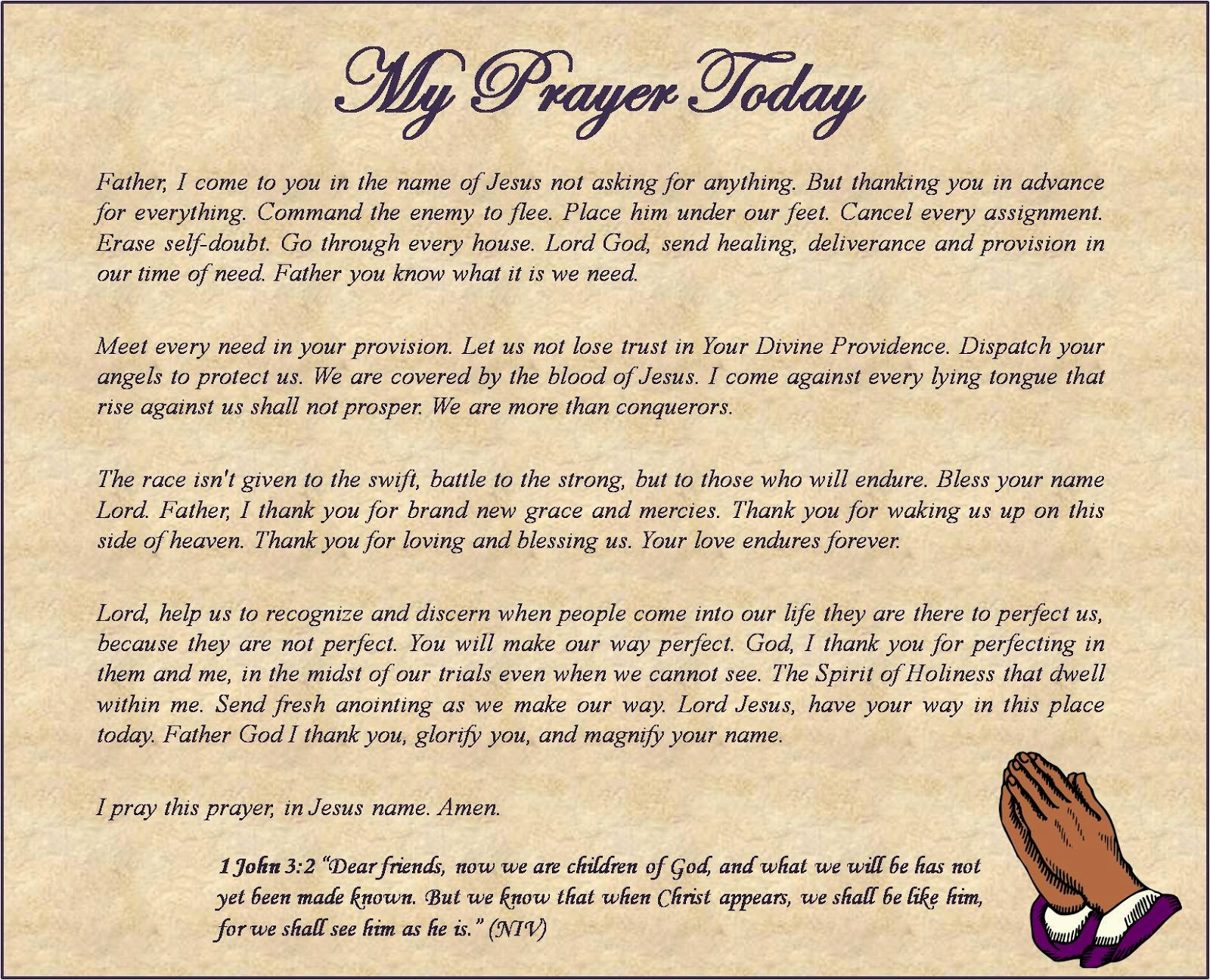 Lady Alexandria Devotional Blogger : My Prayer Today:Thanking Jesus