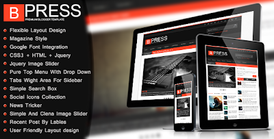bpress blogger theme,free theme,blogger theme