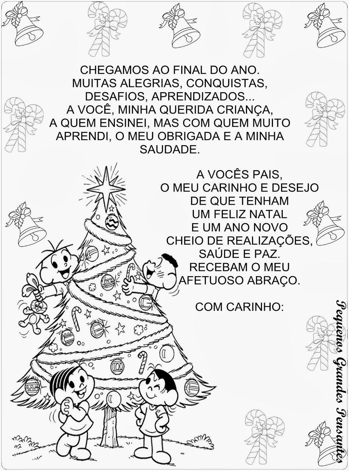 Amado Pequenos Grandes Pensantes.: Mensagem de Natal - Educação Infantil BL99