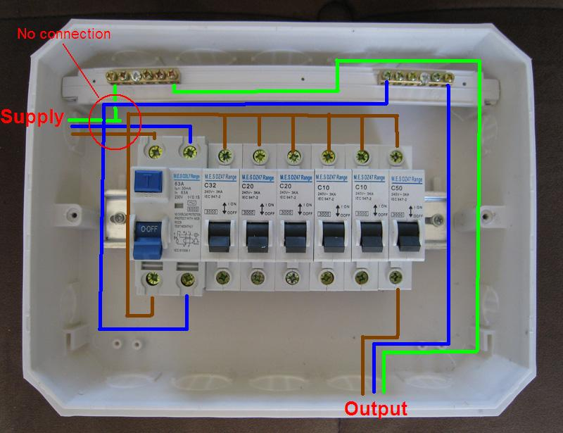 Distribution Board Wiring Diagram on dual power supply circuit