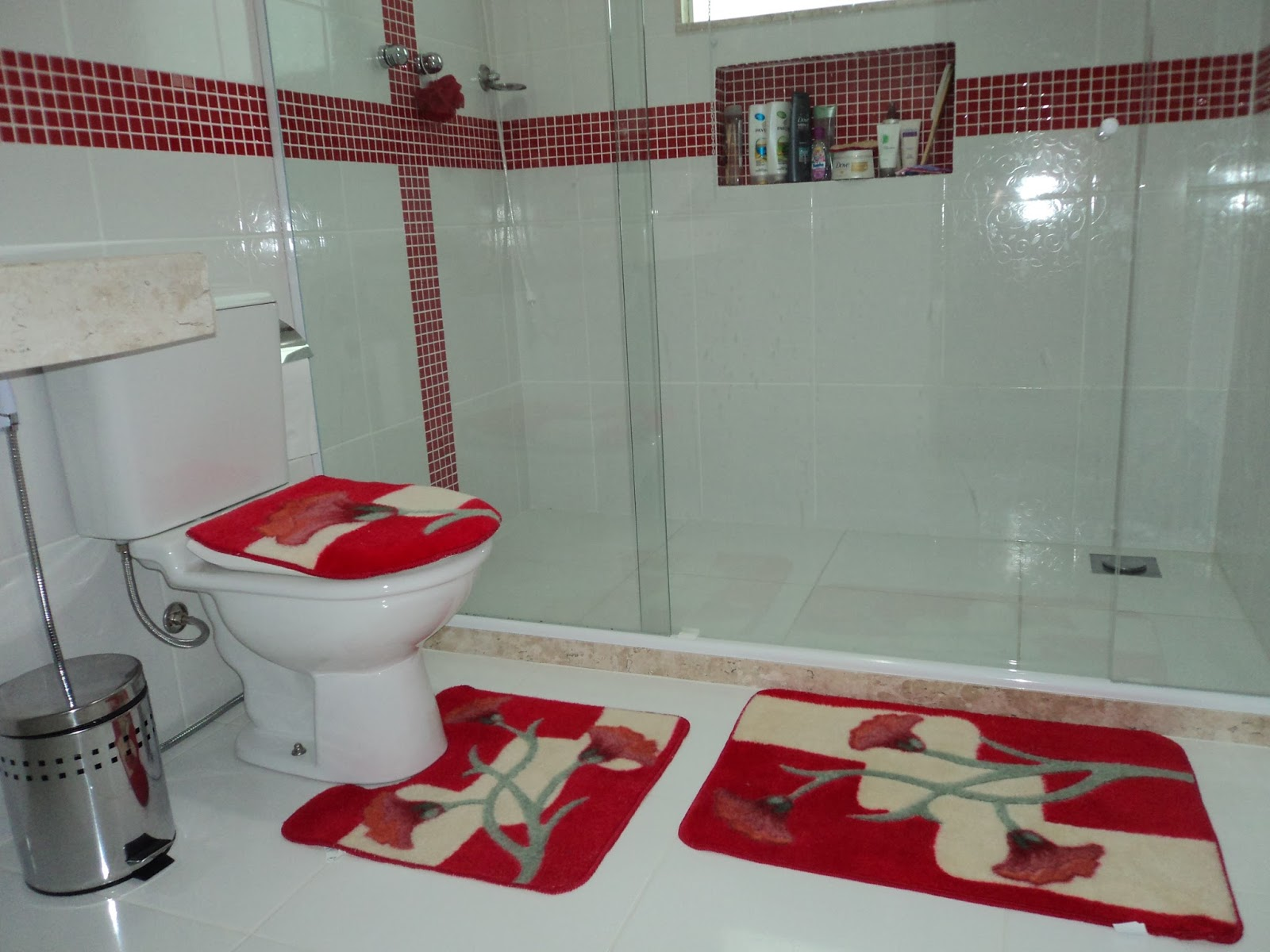 ViDa NoVa CaSa NoVa Construindo nosso LaR : Banheiro da Suíte #752229 1600x1200 Bancada Banheiro Vermelha
