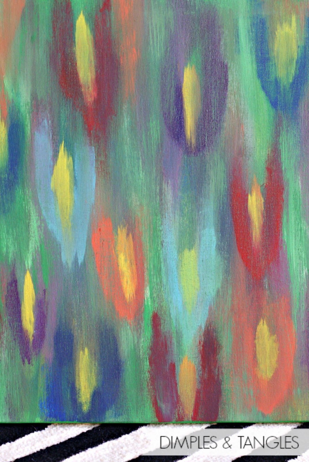 Dimples and Tangles: DIY ABSTRACT ART