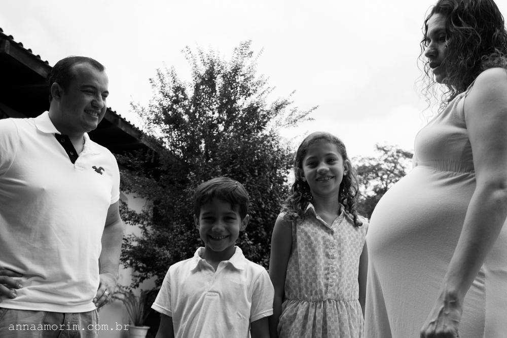 Fotografia Gestante Família