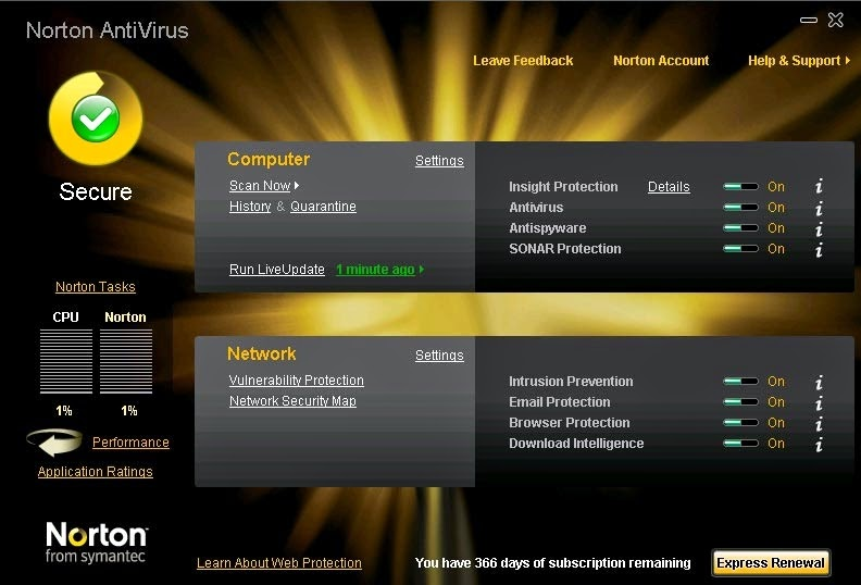Symantec antivirus v10.1.4.4010 corporate edition client