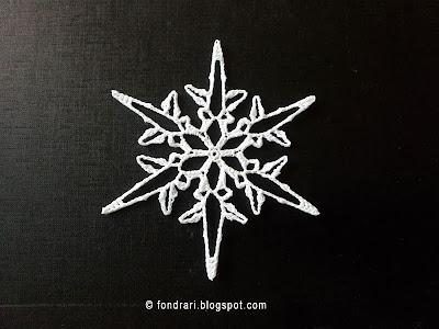 Heklað snjókorn - Mount Eva Snowflake