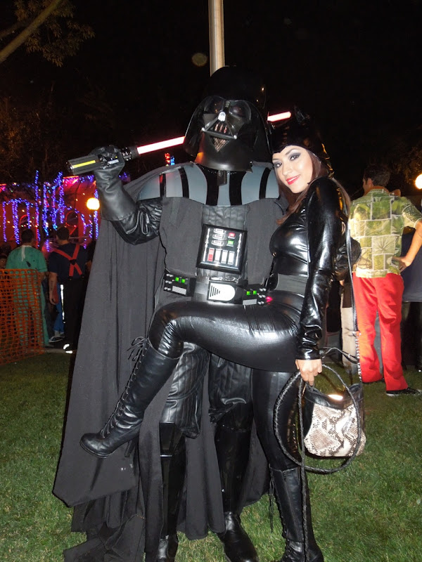 Darth Vader Catwoman West Hollywood Halloween Carnaval