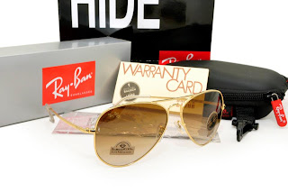 Rayban Diamond Hard Frame Gold Lens Brown Gradient