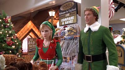 Will Ferrell and Zooey Deschanel in Elf