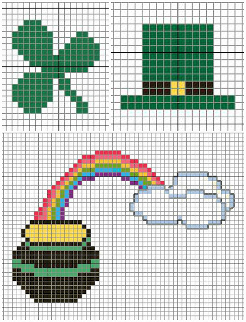 Pot Of Gold And Leprechaun Hat And Clover