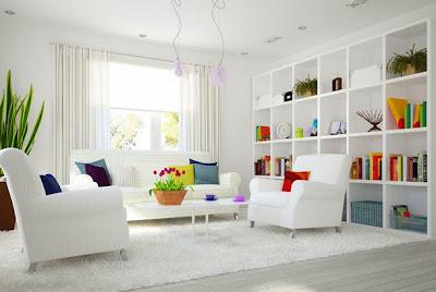 desain interior rumah dengan nuansa putih
