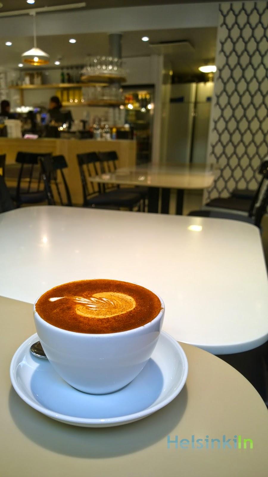 Red Cappuccino at Fazer