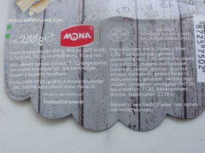 ingredienten van Mona pudding
