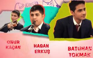 Bizim Okul dizisi oyuncuları Onur Kaçan Hasan Erkuş Batuhan Tokmak