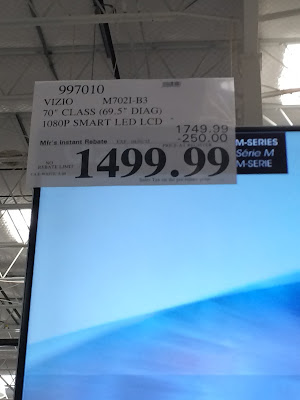 Vizio M702i-B3 70 inch LED LCD TV deal at Costco