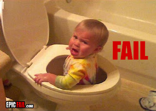 baby in toilet