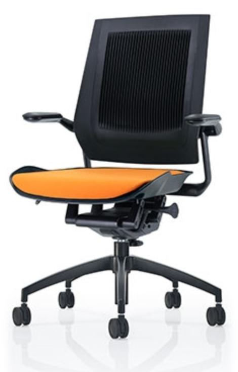 Orange Bodyflex Chair by Eurotech