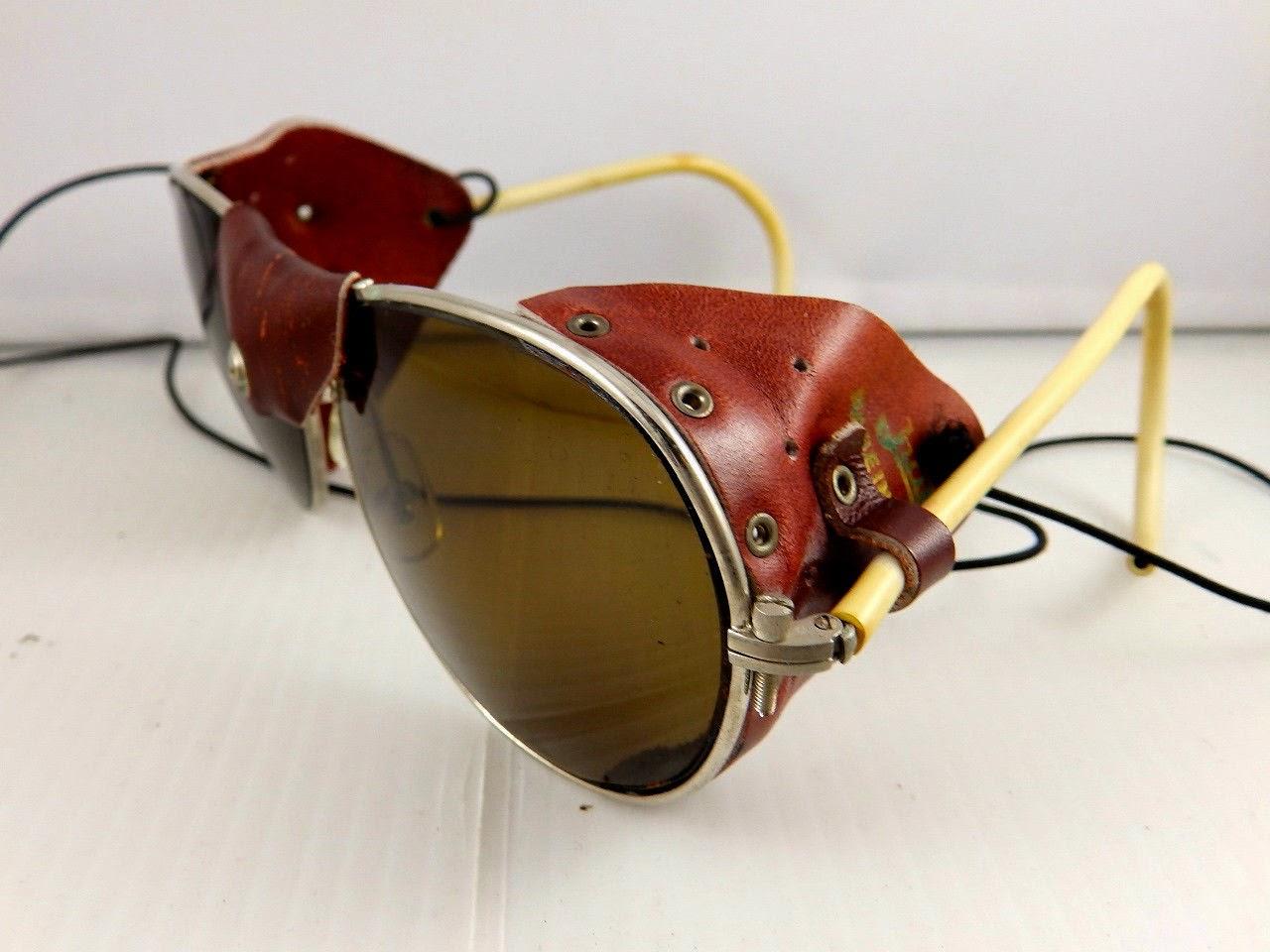 glacier sunglasses 4qkr  1970s Julbo Yannick Seigneur Glacier Mountain Ski Sunglasses Aviator Goggles
