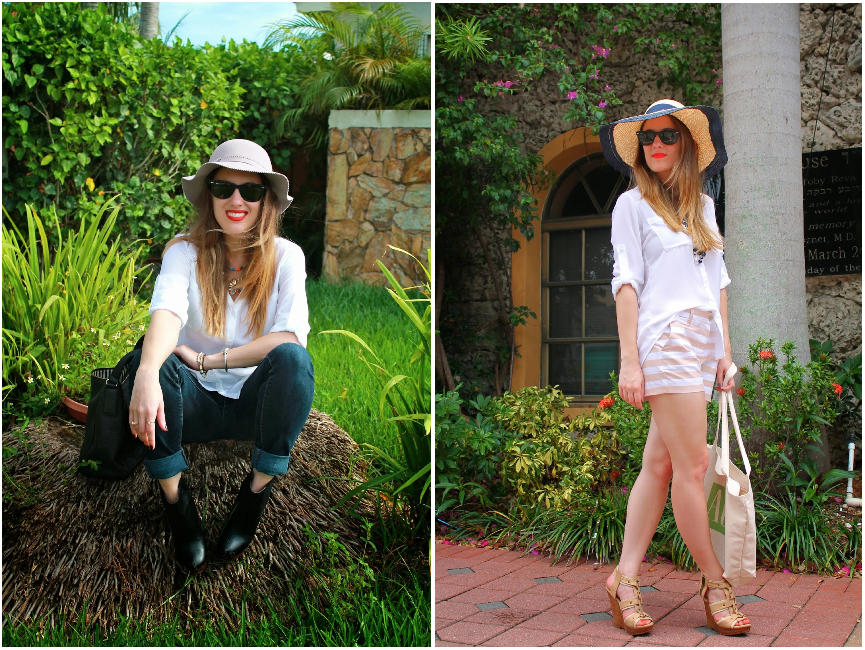 white button down, outfit ideas, two ways to wear, Gap, Express, BCBGeneration, Levi's, Ray-Ban, Kate Spade, chanel, J.Crew