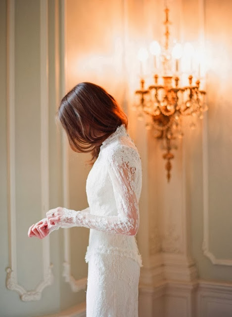 White Lace Dress photo by Elizabeth Messina : Cool Chic Style Fashion
