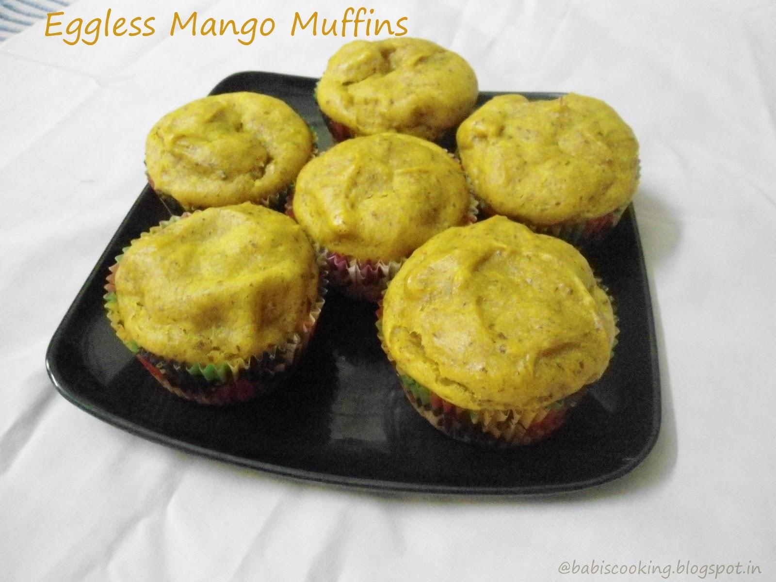 Babi 's Recipes: Eggless Mango Muffins