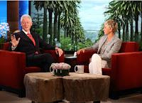 Bill Clinton elogia a alimentação à base de vegetais no show de Ellen DeGeneres