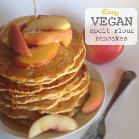 Mommy on the Money: EASY Vegan Spelt Flour Pancakes
