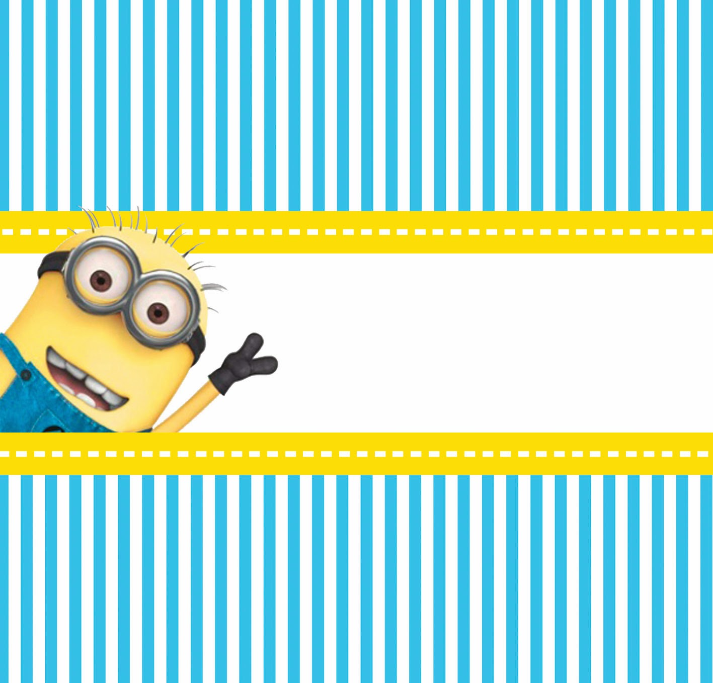 Minions Party Chocolates Labels.