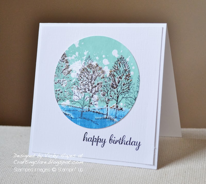 Crafting clare makes a birthday card with Lovely as a Tree and Gorgeous Grunge by Stampin' Up