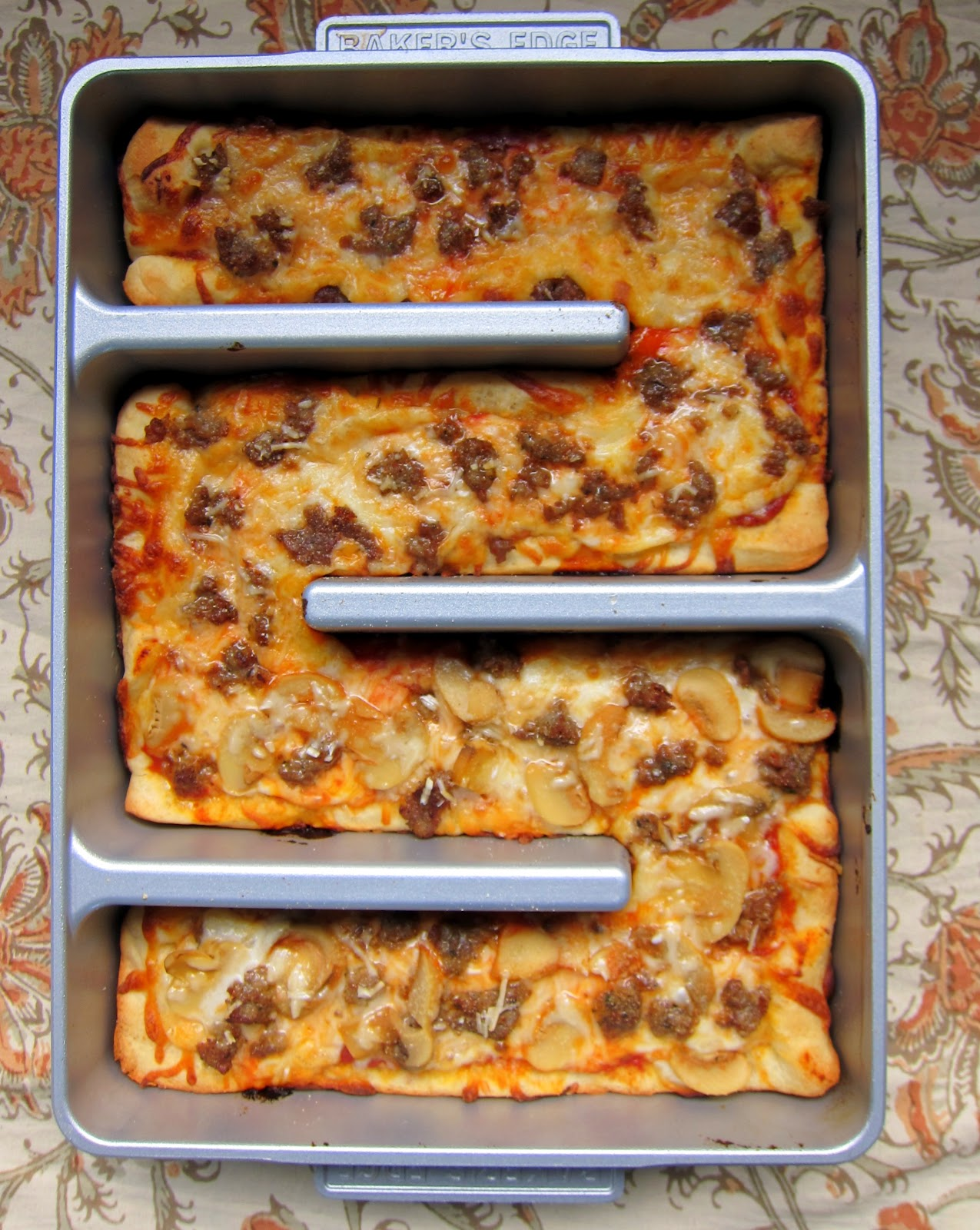 Brownie Pan Pizza with Homemade Pizza Sauce - Plain Chicken